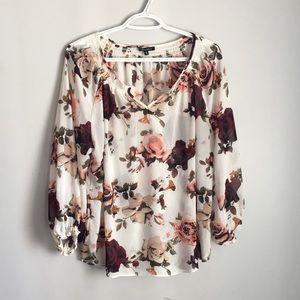 Dynamite large shirt floral flowy